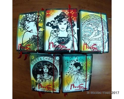 Hand made blankbook Mucha