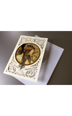 Greeting card Brunette
