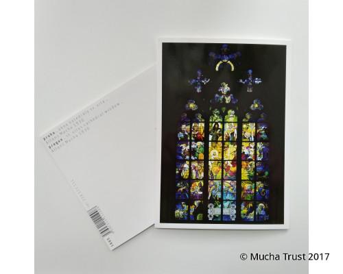Postcard Mucha's Window