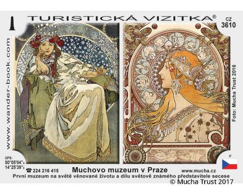 Tourist stickers Mucha