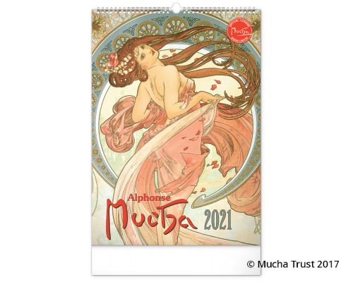 Wall calendar Alphonse Mucha 2021