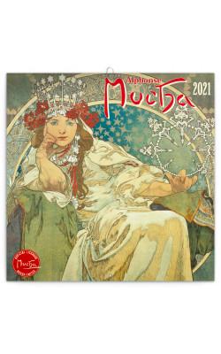 Grid calendar Alphonse Mucha 2021