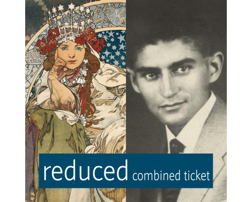 Mucha & Kafka Museum combined reduced ticket