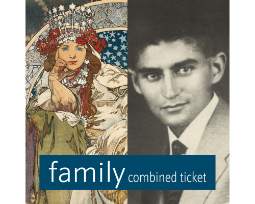 Mucha & Kafka Museum combined family ticket
